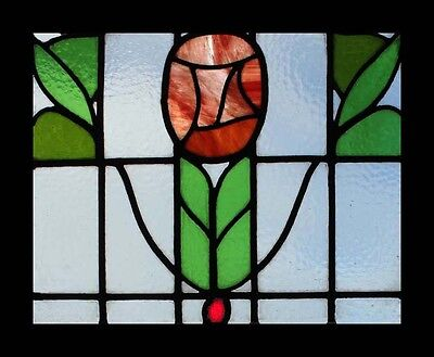 The Most Amazing Mackintosh Rose Art Nouveau Stained Glass Window