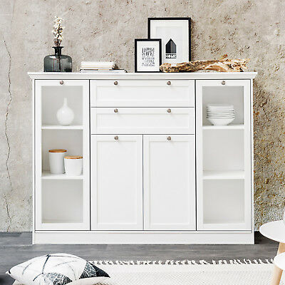 kommode buffet sideboard landhaus landhausstil shabby chic weiss massiv neu eur 599 00. Black Bedroom Furniture Sets. Home Design Ideas