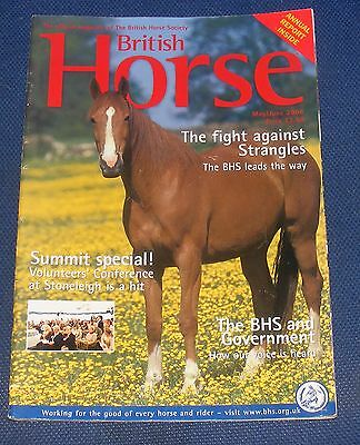 British Horse May/june 2006 - The Fight Against Strangles