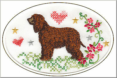 Irish Water Spaniel Birthday Card Embroidered by Dogmania