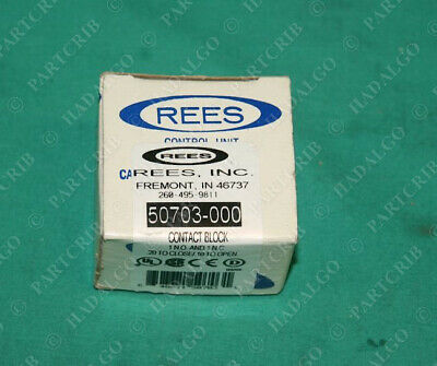 Rees, 50703-000, Contact Block Push Button Switch 50703NO-NC NEW