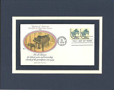 Steinway Grand Piano Nat'l Music Camp1st Day Cover Steinway Grand Piano Stamp