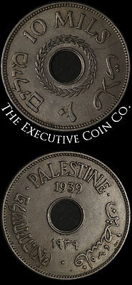 1939 - Palestine 10 Mils KM-4 Nice Color and Surfaces Nice XF