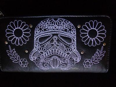 Disney Star Wars Stormtrooper Wallet by Loungefly Black Leather New