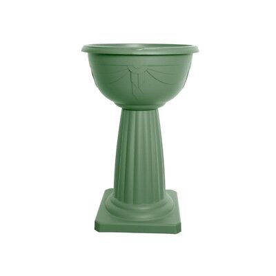 Whitefurze Forest Green Jardiniere Garden Pedestal Planter Plant Pot Plastic NEW