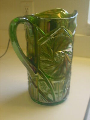 CAMBRIDGE GREEN DOUBLE STAR WATER PITCHER
