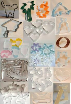 Cookie cutter Cake pastry Biscuit cutters over 50 to choose UK seller 460+ sold