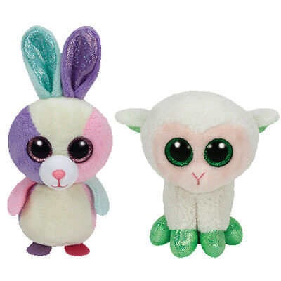 TY Basket Beanie Babies - Easter 2015 Set of 2 (Bloom & Lala) (4 inch) - MWMT's