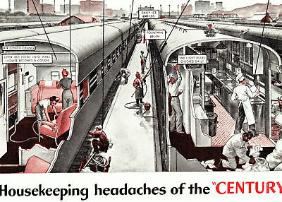 1944 Ad~ NEW YORK CENTRAL Railroad RR ~ Housekeeping Service