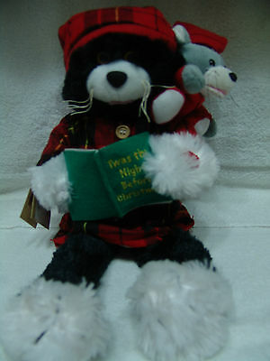 Chantilly Lane Duets The Night Before Christmas Cat Mouse Reading Book Plush New