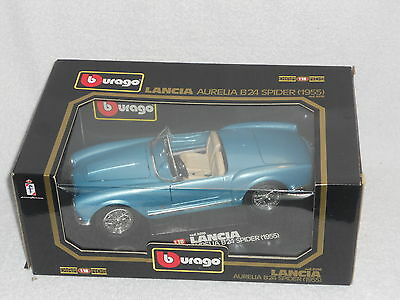 Bburago 1:18 Diamonds Series Diecast Model Lancia Aurelia B24 Spider 1955 Blue