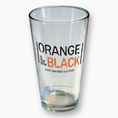 Orange Is The New Black TV Series Logo 16 oz Clear Pint Glass, NEW UNUSED