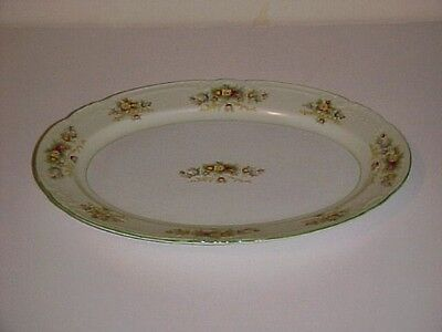 Coronation China of Japan CJA6 Pattern Floral Bouquet Oval Serving Platter