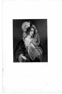 Rebecca Beautiful Woman Fancy Costume Antique Art Print Engraving