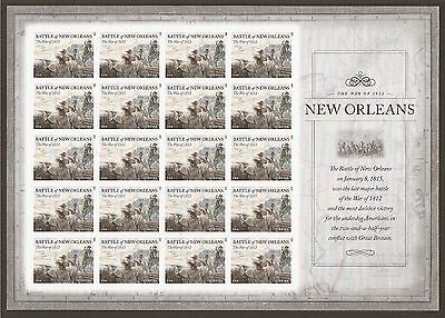 #4952 Battle of New Orleans (forever) 2015 Issue - MNH Sheet of 20