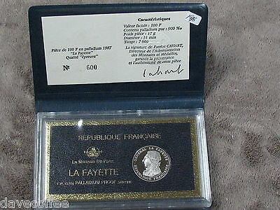 1987 Lafayette Palladium Proof-Only 7000 Minted-Gem Speciman. Free Ship
