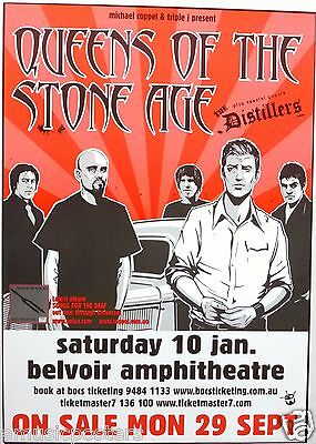 Queens Of The Stone Age / The Distillers 2004 Australian Concert Tour Poster