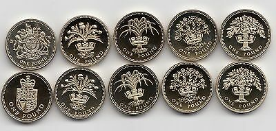 UK PROOF One Pound £1 Coin 1983 to 1999 - Choose your year