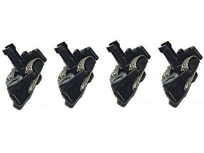 Genuine Scalextric Spares Long Stem C8071 Guide Blades Pickups With Braids x4