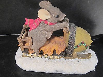 Charming Tails MAXINES SNOWMOBILE RIDE Mouse w/ Box  #87/612