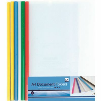School Student Plastic Document Filing Folders Wallets Pockets - MULTI CHOICE