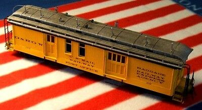 On3/On30 WISEMAN MODEL SERVICES SM-105 D&RGW RPO/BAGGAGE PASSENGER CAR KIT