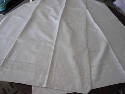 2 ANTIQUE GERMAN METIS BABY DUVET COVERS or XL PILLOWCASES Lace Inset  Monogram