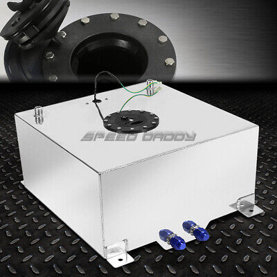 15 Gallon/57 Liter Polished Aluminum Racing Drift Fuel Cell Tank+Level Sender