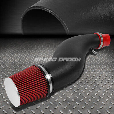 """6"""" Flared Piping Short Ram Air Induction Intake+Red Filter For Civic Eg Eh Ej Em"""