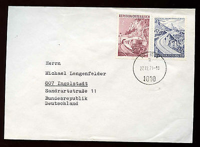 Austria 1971 Cover To Germany #C15414