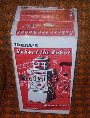 Ideal  Robert The Robot  C. 1950's  Boxed  Voice Box Works  No Controller