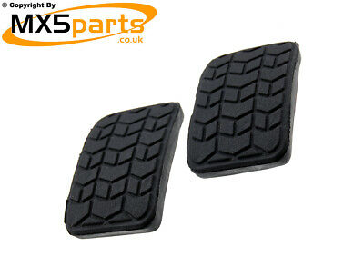 MX5 Brake & Clutch Pedal Rubbers Pair Mazda MX-5 Mk1 Mk2 Mk2.5 Manual 1989>2005