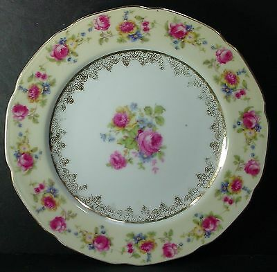 GOLD CASTLE china HOSTESS pattern BREAD PLATE 6-3/4""
