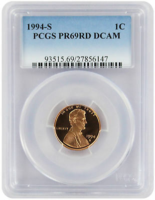 1994-S Lincoln Cent PR69RD DCAM PCGS Proof 69 Red Deep Cameo