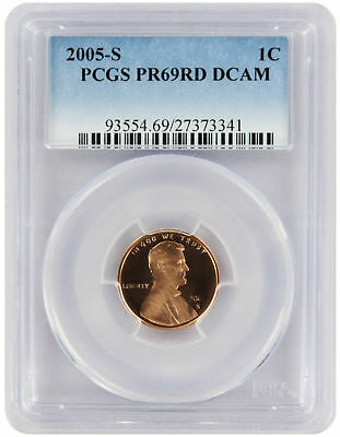 2005-S Lincoln Cent PR69RD DCAM PCGS Proof 69 Red Deep Cameo