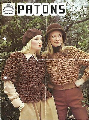 Vintage Knitting Pattern Loop Stitch Jackets For Women