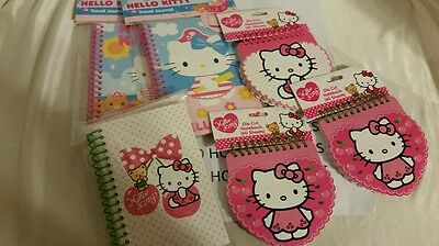 Lot of 6 Hello Kitty Small Die Cut Notebook/Journal Notepad Spiral Bound Sanrio