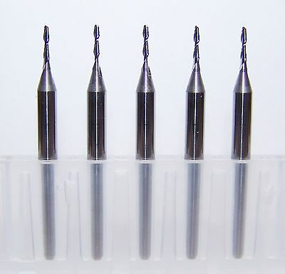 """(5) 1.00mm (.0394"""") 2 FLUTE MICRO CARBIDE ENDMILLS - SPECIAL PRICE"""