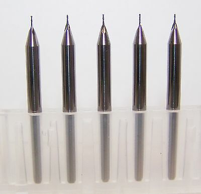 """(5) .0150"""" 2 FLUTE MICRO CARBIDE ENDMILLS - SPECIAL PRICE (0.38mm)"""