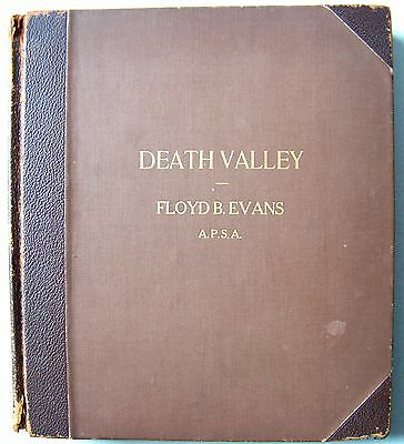 VERY RARE ORIGINAL Photo Art Book DEATH VALLEY By Photographer FLOYD B. EVANS