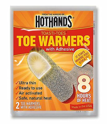 New HotHands Toe Warmers Toasti Toes HeatMax 8 Hours Heat - 10 Pair Pack