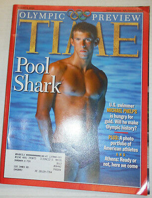 Time Magazine Michael Phelps & Olympic Preview August 2004 021815r