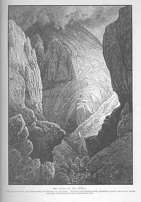GORGE OF THE LITANY Antique ART OLD Holy Land Engraving