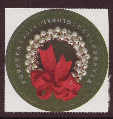 United States 2014 Christmas Holiday Wreath Unmounted Mint, Mnh.