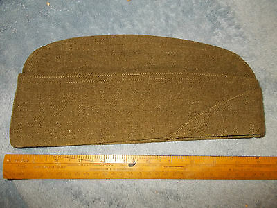 ORIGINAL 1945 DATE WWII US ARMY WOOL ENLISTED INFANTRY GARRISON CAP SIZE 7-1/4?