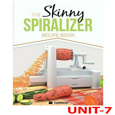 The Skinny Spiralizer Recipe Book By Cooknation Brand new Paperback