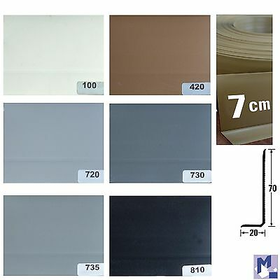 XL Soft PVC Skirting board Knick Profile Plastic Skirting boards 7 cm high