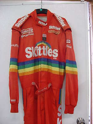 Derrike Cope Skittles race used Drivers Suit Uniform