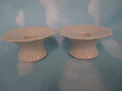 Lenox Woodland Leaf Pair Of Candlesticks bs5