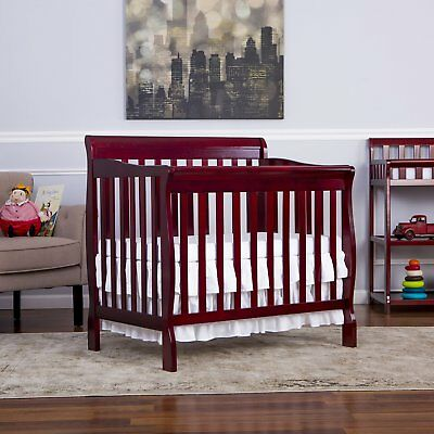 NEW 4 in 1 Portable Convertible Crib Nursery Furniture Wood Baby Day Bed Twin